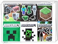 Wholesale 400Sets Set Sheets Minecraft Stickers Creeper and other Character Free DHL