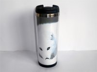 arctic coffee - New Diy Arctic Fox White Creative Coffee Cup Travel Water Cup Stainless Steel Cup ML CM Gift