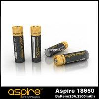 Wholesale 2015 Newest Aspire Battery mah Battery A Battery For E Cigarette ICR V Li ion Battery