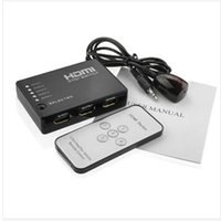 achat en gros de xbox dvd télécommande-5 ports HDMI commutateur Switcher HDMI Splitter HUB avec télécommande infrarouge IR câble récepteur pour Xbox 360 PS3 DVD HD 1080P vidéo