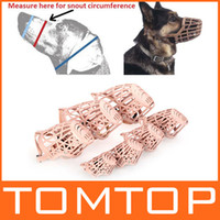 Wholesale Adjustable Muzzle PE Plastic Basket Pet Dog Mesh Mask Mouth Cage
