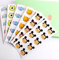 Wholesale New Tsum Mickey Minnie Cartoon Phone Stickers Cartoon Stickers Transparent Decorative Stickers