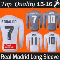 Wholesale DHL freeshipping Madrid Long Sleeve Jerseys Cristiano RONALDO JAMES bale Best Thai Quality Real Madrid Long Sleeve Soccer Jerseys