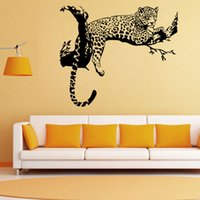 Wholesale Animal Tiger Relaxing Wall Sticker Waterproof Home Decal Decor HDE_018