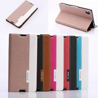 book flip - Dual color Luxury Hit color Book style Glitter skin Wallet Flip Leather cover Credit Card case stand holder cases For Sony Xperia Z3