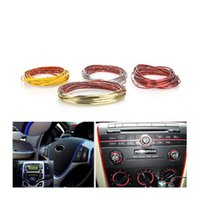 Wholesale 5M Car Decoration Sticker Thread Stickers Auto Car Styling indoor pater Car Interior Exterior Body Modify Decal sticker Colors