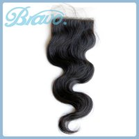 Brazilian Hair Natural Color Body Wave Bravo Hair 6a Brazilian Body Wave Silk Based Closure Swiss Lace Closure Piece 1B Free Part Silk Top Closure Remy Human Hair Closure