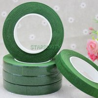 Wholesale 1 Roll Yard Green Self adhesive Paper Tape Florist Floral Stem Tape for Corsages Craft Artificial Flower