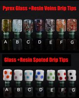 Cheap E Cigarette Glass+Resin Drip Tips 510 Mouthpiece for CE4 Mini Protank E Cig Tanks Vaporizer Accessories Drip Tip 50pcs