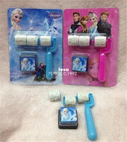 Wholesale Fashion Hot Styles Frozen Little hand roller seal Cartoon Princess Anna Elsa Olaf Seal stamp Children gift kids Toys