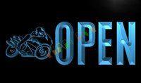 auto neon signs - LK763 TM OPEN Motorcycles Auto Shop Car Neon Light Sign Advertising led panel jpg