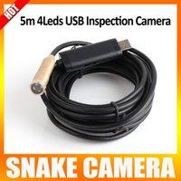 Wholesale 5M USB White LED Waterproof Endoscope Borescope Snake Inspection Camera