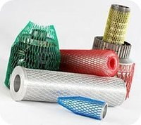 Wholesale PP Material Expandable Protective Plastic Tubular Net Mesh Sleeves for coated bolts and nuts hardware parts assembly