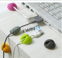Wholesale Brand New x Cable Clip Desk Tidy Wire Drop Lead USB Charger Cord Holder Secure Table