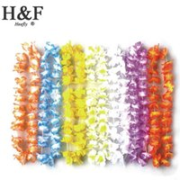 wreath supplies - Silk Artificial Flowers Hawaii Wreath Silk Flower Lei Party Supplies Garland Cheerleading Products Hawaii Necklace Manufacturer HH0090