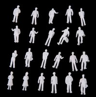 ho scale - 100pcs HO Scale White Model People Unpainted Train Figures