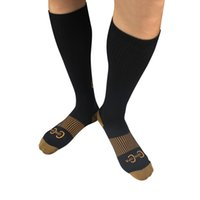 Wholesale High Quality S M L XL Unisex Miracle Copper Anti Fatigue Compression Socks