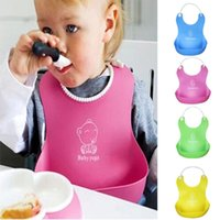 Wholesale 2016 Hot Sale Colors Baby Infants Kids Cute Silicone Bibs Baby Lunch Bibs Cute Waterproof Bibs Shipping