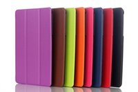 Wholesale Tri Fold Slim Stylish Leather Case Stand Cover For DELL venue pro Tablet