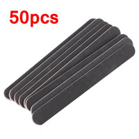 Wholesale 50 Piece Black Double Sided Sanding Nail File x20x4mm Manicure Tools Grinding Nails File Straight Edge Thick Stick order lt no track