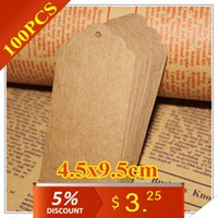 Wholesale paper tags x9 cm Retro Gift tag Table Number cards High Quality Kraft Tag G