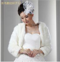 arrival yarn jacket - New Arrival Faux Fur Hot Wedding Bridal Dress Jacket Bolero Accessories Shawl Warm Winter Coat Bridal Wraps Long Sleeve