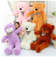 Wholesale giant Teddy Bear Skin freeship white black bown pink purple yellow cm bear skin factory