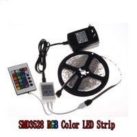 Wholesale 5M Ft SMD RGB LED Color Changing Kit with Flexible Strip Light K IR Remote Control Power Supply