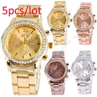 Wholesale 5pcs New Fashion Ladies Women Girl Unisex Stainless Steel Analog Quartz Wrist Watch SV007023