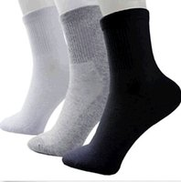 athletic socks black - 2016 Pairs Men Cotton Comfort Sport Socks For Football Basketball Colors Sport Socks