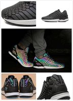 snake print shoes - 2016 men s brand shoes chameleon ZX FLUX XENO new All Star M reflective black snake casual shoes Fluorescent color women shoes