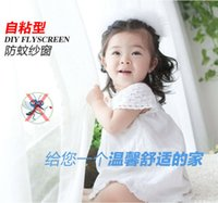 Wholesale Via Fedex EMS DIY FlYSCREEN Anti Mosquito Polyester Window Screens Self adhesive Mosquito Nets Mesh cm