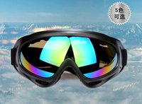 Wholesale 2015 New Outdoor Windproof Glasses Ski Goggles Dustproof Snow Glasses Men Motocross Riot Control Downhill Tactical Motorcycle Goggles X400