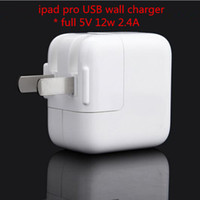 Wholesale New For ipad charger ipad pro air mini Wall Travel Chargers USB Port Adapter Full V W A US plug