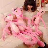 pink panther - 40 CM Cute Pink Naughty Leopard Pink Panther Plush Stuffed Toys Baby Kids Doll Brinquedos Factory Price