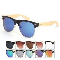 half frame glasses - NEW Bamboo Half Frame Sunglasses Vintage Bamboo Sun GLasses UV400 Protection Women Mens Goggles HL