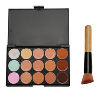 Wholesale 15 colors makeup Concealer Camouflage Neutral Palette foundation Cream Highlighter Brush tool