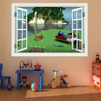 Wholesale Minecraft Digging D Art Wall Decal Cling Sticker Christmas Party Kids Theme Room Decor Wall Poster Style Wall Decals