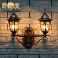 aluminum wall studs - European style wall lamp outdoor wall stud palace atmosphere waterproof rustproof cast aluminum lamp post W4015