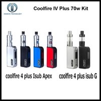 apex silver - Authentic Innokin CoolFire IV Plus W with iSub G Tank or genuine iSub Apex Tank starter Kit mah Cool fire Plus kit