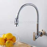 Wholesale Single cold faucet wall mounted kitchen faucet laundry pool faucet sanitary ware Mixer Tap Chrome Crane