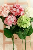 airline european - European Pastoral Style Artificial Silk Flower Fabric Hydrangea Bouquet Wedding garden home restaurant and office decoration