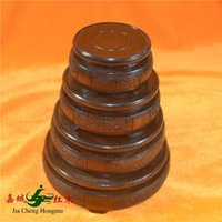 african vase - Kerry Redwood City African ebony wood carving circular base tray vase ornaments placed ornaments Specials