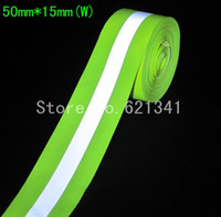 Wholesale meters roll Fluorescent Green Reflective Oxford Cloth Sewing Reflective Material Tape Traffic Warning Belt mm mm