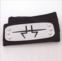 Wholesale 100 BBA5320 cm naruto headband leaf village logo Konoha Kakashi Akatsuki Members Anime metal cosplay Headband Cosplay Costume Accessories