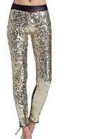 gold leggings - Haerot Women Sexy Gold Sequin Funk Leggings Women Pantyhose Women Graffiti Legging D Tattoo Leggings Women Pencil feet pants
