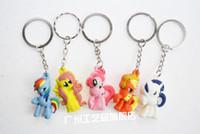 Wholesale My little pony My Little Pony My Little Pony Rainbow horse PVC Keychain
