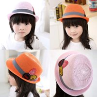 Wholesale The Newest Design For Korean Toddler Baby Girls Boys Hat Fedora Hat Jazz Cap Photography Trilby Topper