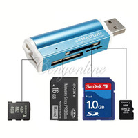 micro sd card reader - All in USB Multi Memory Card Reader Adapter Connector For Micro SD MMC SDHC TF M2 Memory Stick MS Duo RS MMC Retail Packag