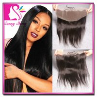 Cheap Malaysian Lace Frontal Straight 13*4 Ear To Ear Full Lace Front Closure Bleached Knots Can Be Dyed Black Color With Baby Hair